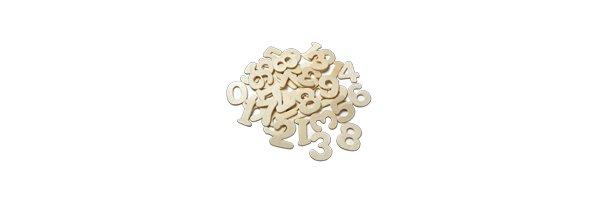 Holzbuchstaben & Zahlen