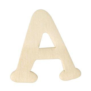 Holz-Buchstaben, 4 cm, A