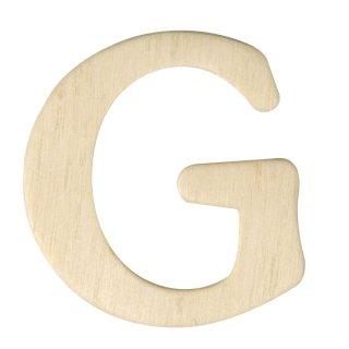 Holz-Buchstaben, 4 cm, G