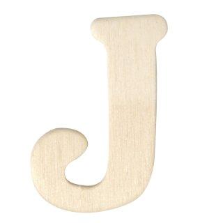 Holz-Buchstaben, 4 cm, J