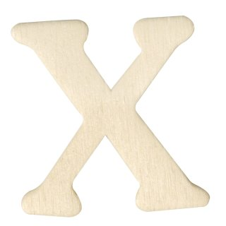 Holz-Buchstaben, 4 cm, X