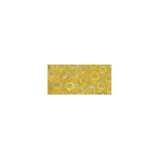 Rocailles, 2,6 mm , transparent gelüstert gelb, Dose 17g