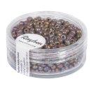 Rocailles, 2,6 mm , opak gelüstert, weinrot, Dose 17g