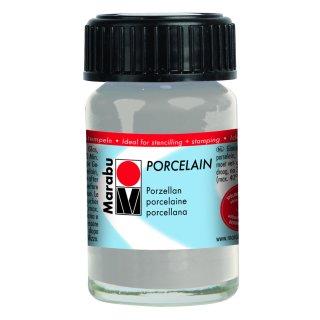 Marabu Porcelain, Metallic-Silber 782, 15 ml