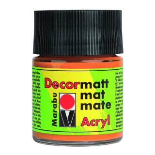 Marabu Decormatt Acryl, Orange 013, 50 ml