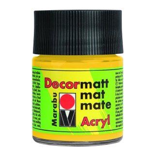 Marabu Decormatt Acryl, Mittelgelb 021, 50 ml