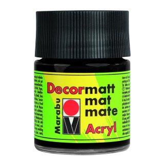 Marabu Decormatt Acryl, Schwarz 073, 50 ml