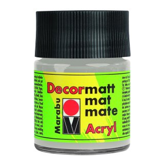 Marabu Decormatt Acryl, Metallic-Silber 782, 50 ml