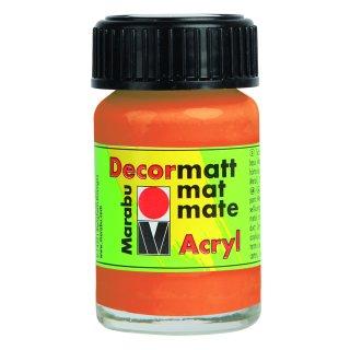 Marabu Decormatt Acryl, Orange 013, 15 ml