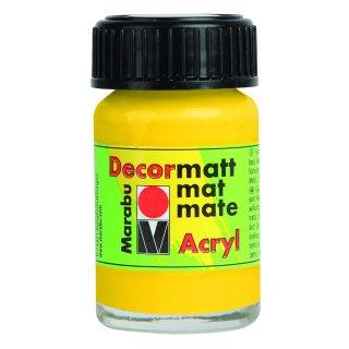 Marabu Decormatt Acryl, Gelb 019, 15 ml