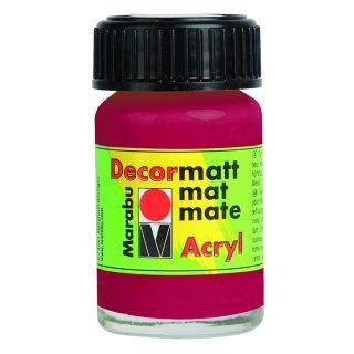 Marabu Decormatt Acryl, Karminrot 032, 15 ml