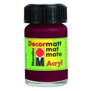 Marabu Decormatt Acryl, Bordeaux 034, 15 ml