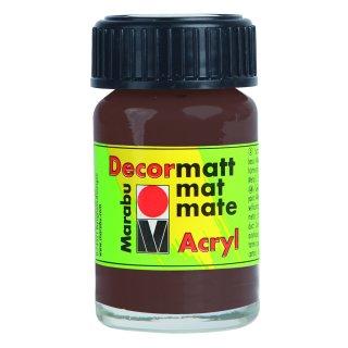 Marabu Decormatt Acryl, Mittelbraun 040, 15 ml