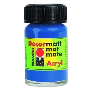 Marabu Decormatt Acryl, Mittelblau 052, 15 ml