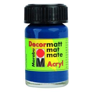 Marabu Decormatt Acryl, Dunkelblau 053, 15 ml
