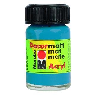 Marabu Decormatt Acryl, Cyan 056, 15 ml