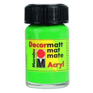Marabu Decormatt Acryl, Hellgrün 062, 15 ml