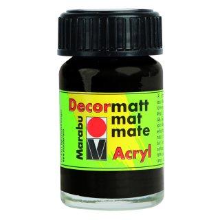 Marabu Decormatt Acryl, Schwarz 073, 15 ml