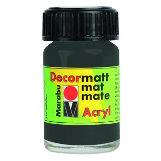 Marabu Decormatt Acryl, Dunkelgrau 079, 15 ml