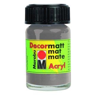 Marabu Decormatt Acryl, Hellgrau 278, 15 ml
