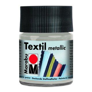 Marabu Textil Metallic, Metallic-Silber 782, 50 ml