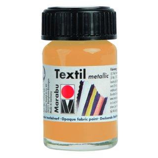 Marabu Textil Metallic, Metallic-Gold 784, 15 ml