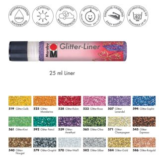 Marabu Glitter-Liner, Glitter-Amethyst 539, 25 ml