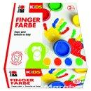 Marabu KiDS Fingerfarbe, 4er-Set, 4 x 100 ml