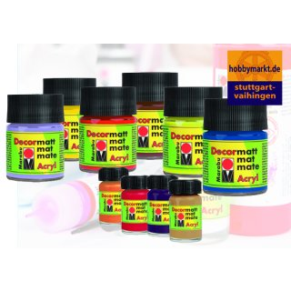 Marabu Deormatt Acrylfarbe 50 ml oder 15 ml - Farbauswahl