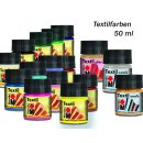 Marabu Textilfarben, verschiedene Farbtöne, 50 ml