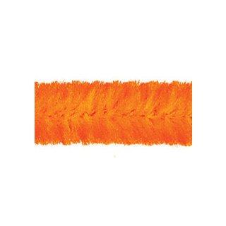 Chenilledraht/Biegeplüsch 8mm/10 St./50 cm  orange