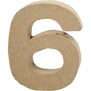 Zahl 6, 10 cm