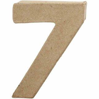 Zahl 7, 10 cm