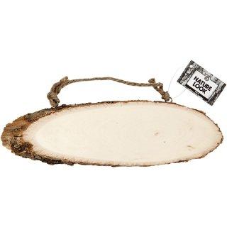 Türschild, Holzscheibe, B 23-28 cm, H 6-10 cm, 1Stck.