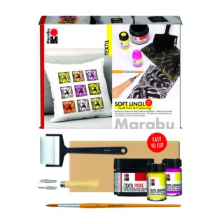 Soft Linol Print & Colouring Set