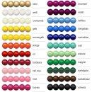 Holzperlen, viele Farben, verschiedene Durchmesser