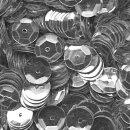 Pailletten im Blister  1.400 Stck. / silber