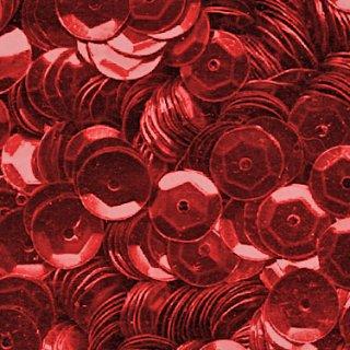 Pailletten im Blister  1.400 Stck. / rot