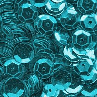 Pailletten im Blister  1.400 Stck. / eisblau metal
