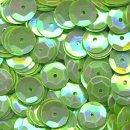 Pailletten im Blister  1.400 Stck. grün irisierend