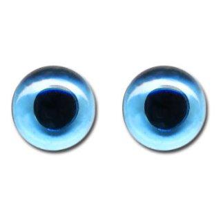 Glasaugen für Tiere, ø 10mm, 2 Stück, blau