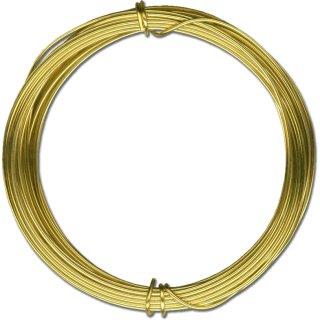 Messingdraht-Ring, ø 1,0mm x 4m im SB-Beutel