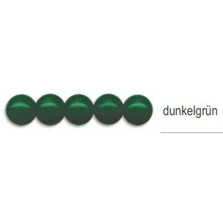 Holzperlen, ø 8mm, 85 Stück -dunkelgrün-