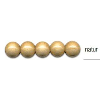 Holzperlen, ø 10mm, 56 Stück -natur-
