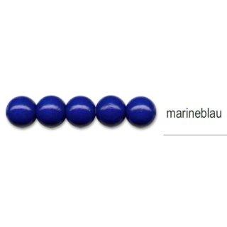 Holzperlen, ø 16mm, 15 Stück -marineblau-