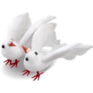 Taube, klein, weiß 1 Paar = 2 Stck., 9cm