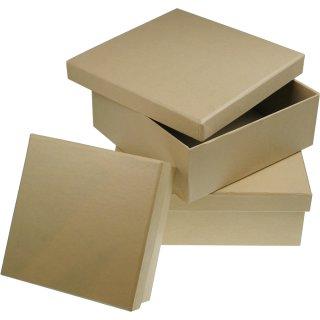 Pappschachtel/quadratisch / 160x160x60 mm
