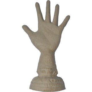 "Pappmaché ""Hand"" 20cm -Ringhalter-"