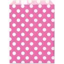 Geschenktüte, pink, Punkte, 13x16,5cm, 25 Stück