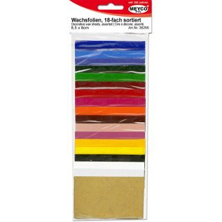 Verzierwachs, 8,5x5 cm, Sortiment=18 Farben sort.